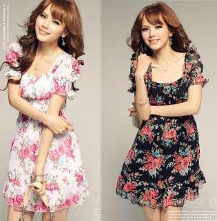 2012 New Spring Boho Resort Casual Chiffon Floral Print Dress
