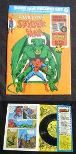 Amazing Spider Man 1974 Book and Record Set Complete