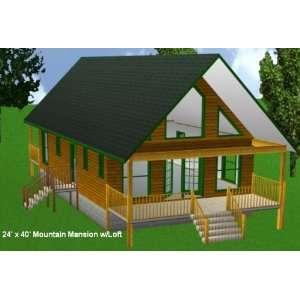 House plans for 24x40 house with loft joy studio design for Cottage packages manitoba