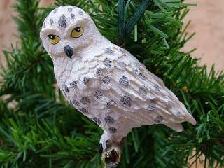 New Snowy Artic Owl Bird Animal Christmas Tree Ornament