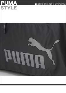 BN PUMA Core Shoulder Duffle Gym Bag Dark Gray