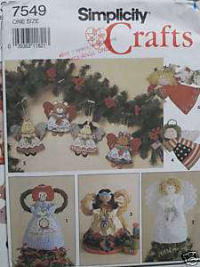 Simplicity Crafts Pattern #7549 Tree Top Rag Doll+ 1991