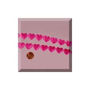 1ea   3/4 X 10yd Hot Pink Hearts Charm Ribbon Arts, Crafts & Sewing