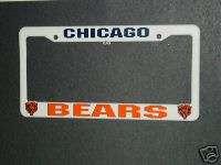 NFL License Plate Frame, (Plastic) Chicago Bears, NEW