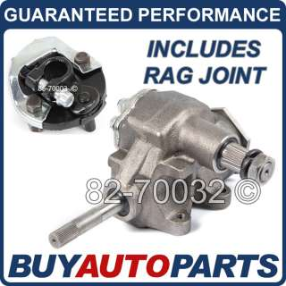 BRAND NEW QUICK RATIO MANUAL STEERING GEARBOX & COUPLER FOR CHEVY / GM