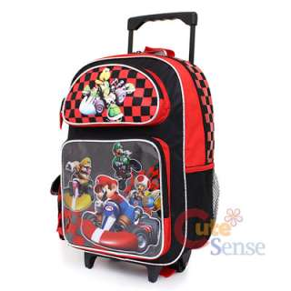 Super Mario Wii Kart School Roller Backpack Lunch Bag 2