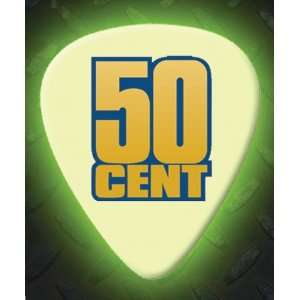 50 Cents 5 X Glow In The Dark Premium Guitar Picks