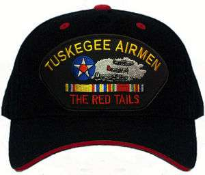 RED TAILS Tuskegee Airmen Veteran Military Baseball Cap Hat