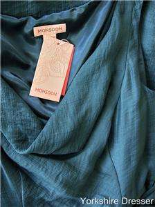 Green BETTY Ruched Cocktail Bridesmaid Dress   All Sizes RARE