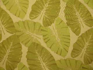 Green Natural Woven Large Tropical Leaves Upholstery Fabric