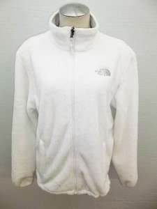 The North Face Womens White Osito Fleece Jacket Size Large