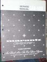 Marantz CAR 400 In Dash Stereo System Service Manual