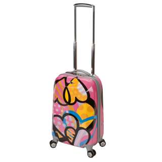 ROCKLAND VISION LIGHT ABS CARRY ON LUGGAGE HEARTS $150