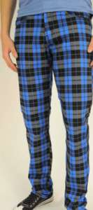 BOYS PLAID SKINNY JEANS, MADE IN THE U.S SIZES6 14 BLUE