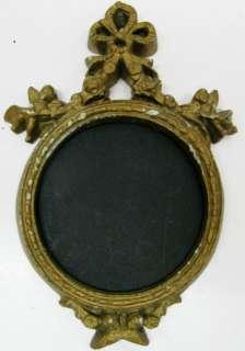 Antique Italian Vintage Frame Cherubs Angel Miniature Portrait