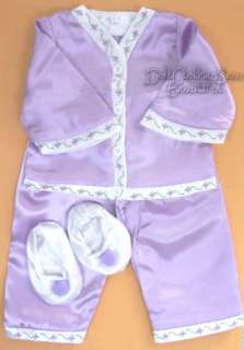 DOLL CLOTHES fits American Girl Pajamas & Slippers CUTE
