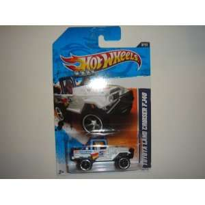 2011 Hot Wheels Toyota Land Cruiser FJ40 White With Black OR6SP Wheel