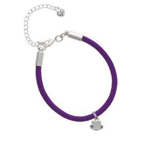 Mini Cat Face with Whiskers Charm on a Purple Malibu Charm
