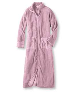 Womens Ultrasoft Fleece Robe, Zip Front Robes   at L.L