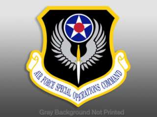 Air Force Special Operations Command Sticker   US AFSOC