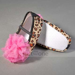 Cute Lovely Leopard/Dots flower Baby Girl Infants Toddler Prewalker