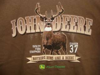 Mens Brown John Deere with Buck T Shirt