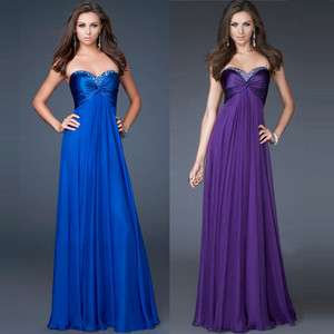 Lady Evening Formal Gown Party prom Ball Cocktail Bridesmaid Wedding