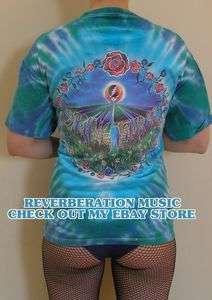 Spring 1992 official 2 sided XL Tour T Shirt blue green tye dye