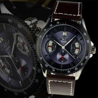New Mens Fashion Luxury WINNER Elegant Automatic Mechanical Mens