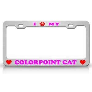 High Quality STEEL /METAL Auto License Plate Frame, Chrome/Black