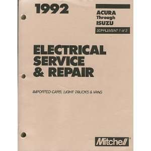 1992 Mitchell Electrical Service & Repair Imported Cars