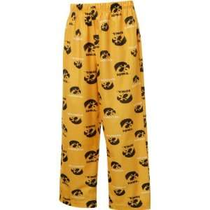 Iowa Hawkeyes Youth Gold Team Logo Printed Pants: Sports