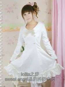 Sweet gothic lolitawhie dress long sleeve