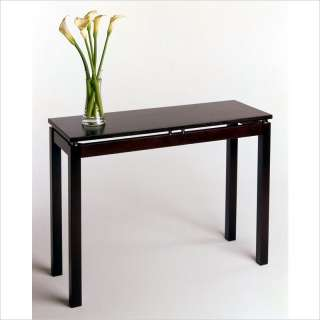 sofa table in espresso 25333 solid wood construction and contemporary