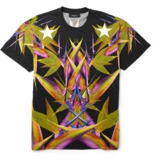 Clothing  T shirts  Crew necks  Paradise Print
