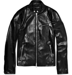 Ralph Lauren Black Label Leather Biker Jacket  MR PORTER