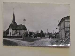 CPA MARNE OUTINES LA PLACE DE L EGLISE 1962