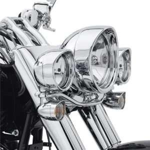 Harley Davidson Chrome Passing Lamp Trim Ring w/ Visor