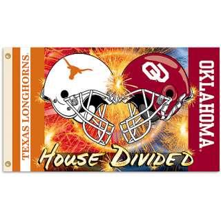 BSI Oklahoma Sooners Texas Longhorns 3x5 Rivalry Helmet Flag