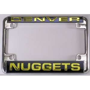 Denver Nuggets NBA Chrome Motorcycle RV License Plate