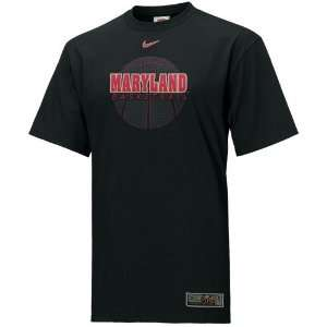Nike Maryland Terrapins Black Basketball T shirt  Sports