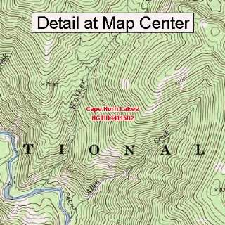 Map   Cape Horn Lakes, Idaho (Folded/Waterproof)