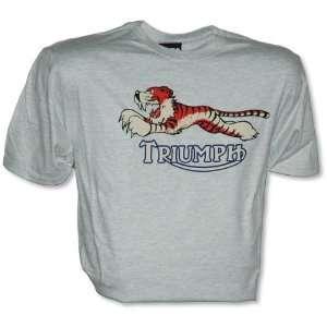 Metro Racing Triumph Tiger T Shirt , Color Ash, Size 2XL