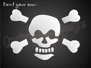 Pirate STENCIL Skull Cross Bones Poison Beware Safety