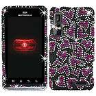 HEARTS PINK DIAMOND BLING CRYSTAL FACEPLATE CASE COVER