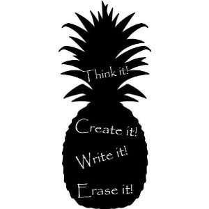 Chalkboard Pineapple  Large  Vinyl Wall Decal