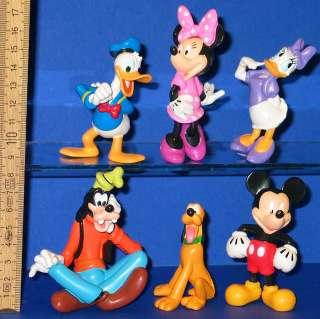 Donald Duck Micky Pluto 6 x Walt  Figuren