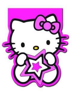 Hello Kitty Pink Stars Birthday Party Shaped Plates x 8