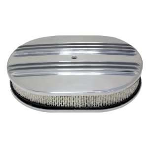 Chevy/Ford/Mopar 12 Oval Polished Aluminum Air Cleaner