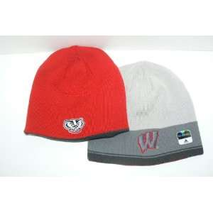 NCAA Wisconsin Badgers Reversible Knit Beanie Hat Ski